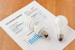 an energy bill with lightbulbs on it | home energy rebates new jersey