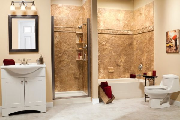 a beautiful one day bathroom remodel in cherry hill