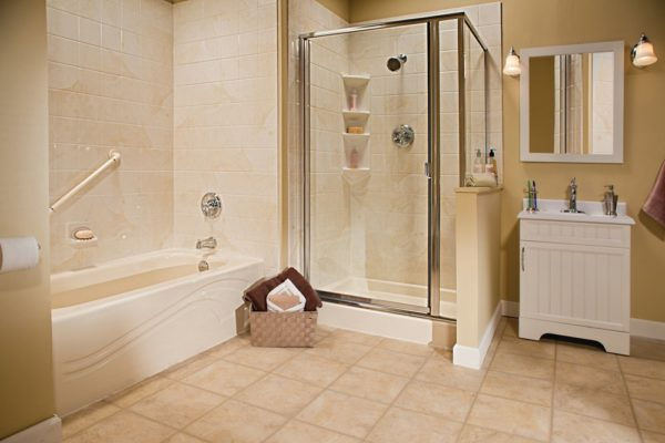 one day bath and shower remodel cherry hill
