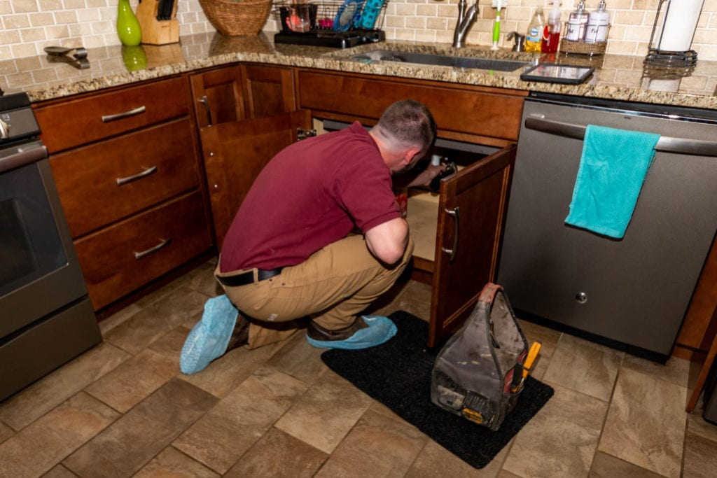 a plumber in burlington nj working for davis home services