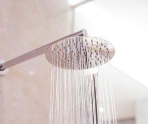shower head running