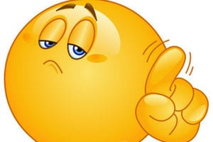 """an emoji wags his finger """"no"""" in disappointment 